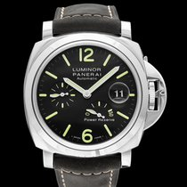 Panerai Luminor Power Reserve Automatic Black Steel/Leather...