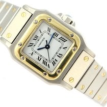 Cartier 24mm Automatyczny 1987 używany Santos (submodel) Biały