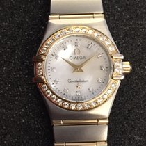 Omega Constellation Gold/Steel 25mm Mother of pearl No numerals