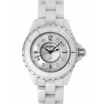 5ca4927d52 Chanel J12 Diamonds White Ceramic 33mm Ref. H2422
