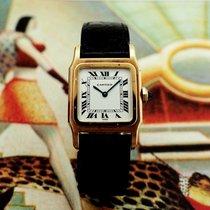 Cartier Santos Dumont Жёлтое золото 24mm Белый Римские