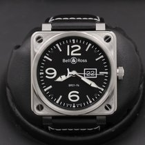 Bell & Ross BR 01-96 Grande Date pre-owned 46mm Black Date Leather