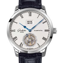 Glashütte Original Senator Tourbillon Ouro branco 42mm Romanos