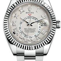 Rolex Sky-Dweller Bílé zlato 42mm Bílá Římské