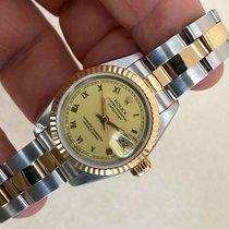 Rolex Lady-Datejust Золото/Cталь 26mm Золотой Римские
