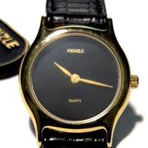Kienzle Yellow gold Quartz Black No numerals 22mm new