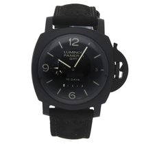 Panerai Luminor 1950 10 Days GMT Ceramika 44mm Czarny Arabskie
