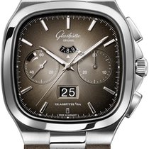 Glashütte Original Seventies Chronograph Panorama Date Steel 40mm Grey United States of America, New York, Airmont