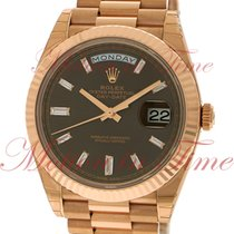 Rolex Rose gold Automatic Brown No numerals 40mm pre-owned Day-Date 40