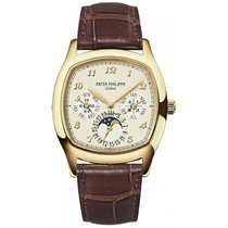 Patek Philippe Yellow gold Automatic Champagne Arabic numerals 37mm new Perpetual Calendar