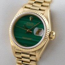 Rolex LADY DATEJUST MALACHIT 18K GOLD GELBGOLD DAMENUHR