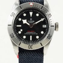 Tudor Heritage Black Bay Steel on Blue Nato Strap 79730