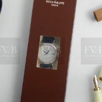 Patek Philippe White gold Automatic Silver No numerals 38mm new Calatrava