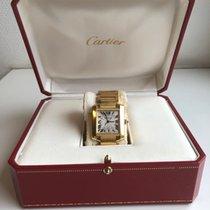 Cartier Tank Française Gult guld 35mm Danmark, Greve