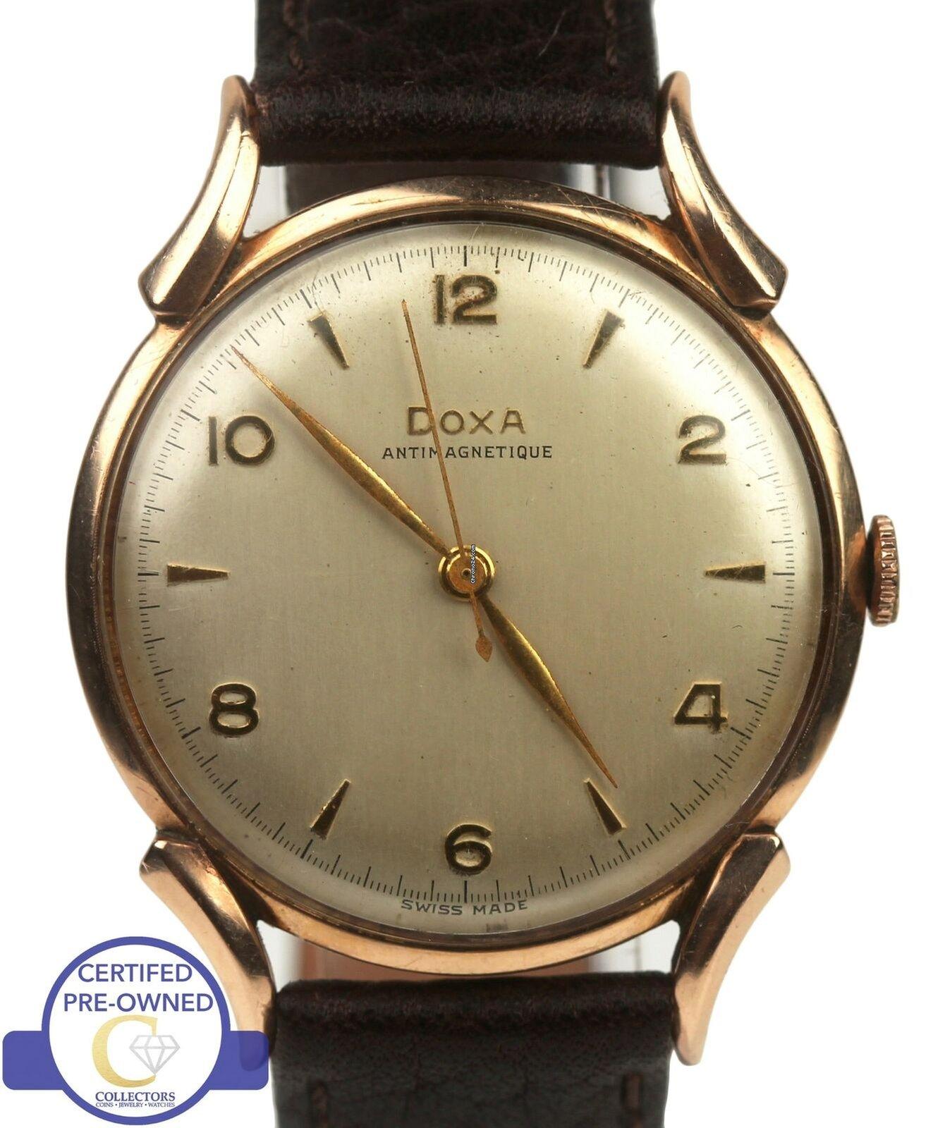 Doxa Vintage Doxa Anti-Magnetique 35mm Silver Toned 14K