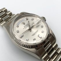 Rolex Day-Date 36 White gold 36mm Silver No numerals United States of America, California, Newport Beach