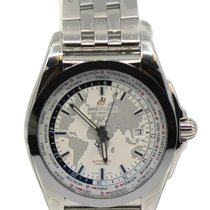 Breitling Galactic Unitime Steel 44mm Silver No numerals