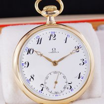 Omega Żółte złoto 52mm Manualny OMEGA pocket watch 14k gold from 1916 używany Polska, Klikuszowa