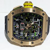 Richard Mille RM 011 Oro rosado 44.5mm Transparente