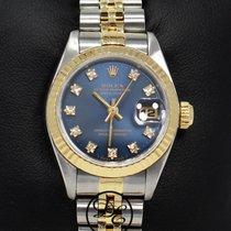 Rolex Сталь Автоподзавод Синий 26mm подержанные Lady-Datejust