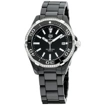 TAG Heuer Ceramic Quartz Black 35mm new Aquaracer Lady