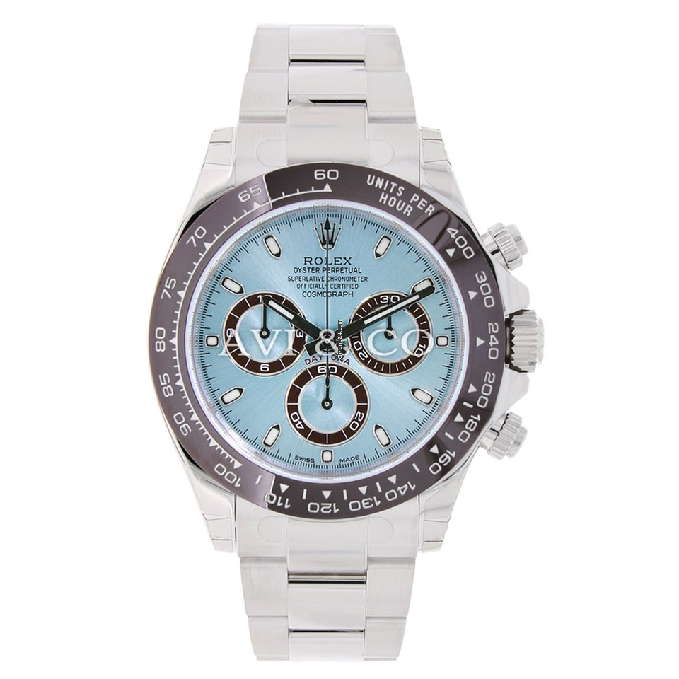 Rolex Daytona For Sale >> Rolex Daytona Platinum Watch Ice Blue UNWORN for $59,999