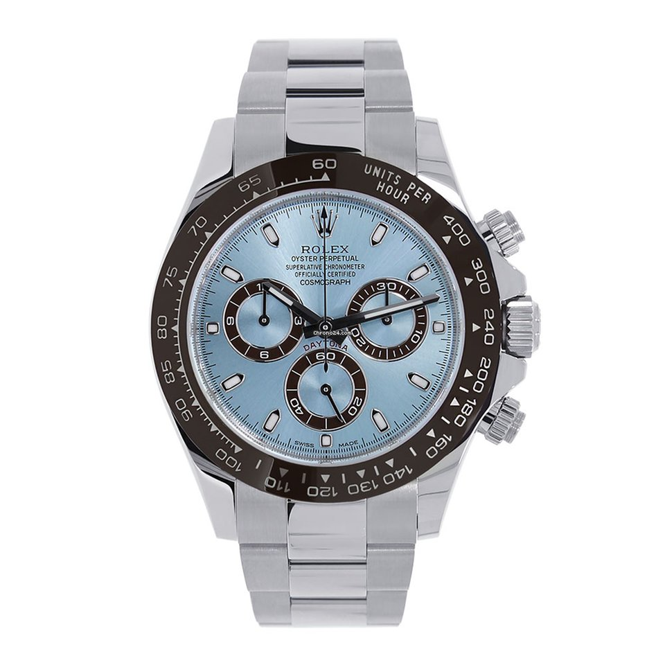 d42f67bf34b Rolex Daytona 40mm Platinum Ice Blue Watch 116506 for $69,999 for sale from  a Trusted Seller on Chrono24