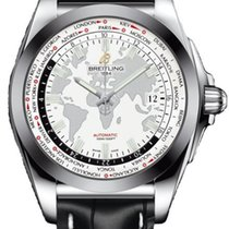 Breitling Galactic Unitime Steel 44mm White No numerals United States of America, New York, Greenvale