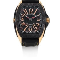 Franck Muller | A Black Titanium And Pink Gold Tonneau-form...
