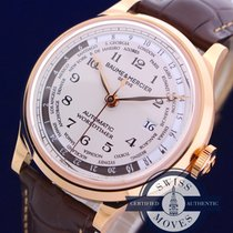 Baume & Mercier CAPELAND WORLDTIMER 18K SOLID ROSE GOLD NEW