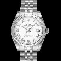 Rolex White gold Automatic White 31mm new Lady-Datejust