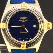 Breitling Callistino Steel 28mm Blue Arabic numerals