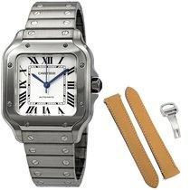 Cartier Santos Galbée новые 2021 Автоподзавод Часы с оригинальными документами и коробкой WSSA0010 CARTIER Santos GALBEE with Extra Leather Strap