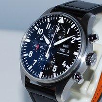 IWC Pilot Chronograph Staal 43mm Zwart Arabisch Nederland, Vught