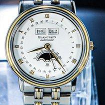 Blancpain Villeret Moonphase Gold/Steel 33mm Silver Roman numerals