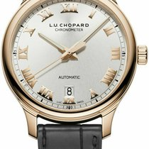 Chopard Rose gold Automatic Silver Roman numerals 42mm new L.U.C