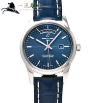 Breitling Transocean Day & Date Acero 43mm Azul