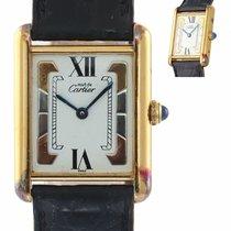 Cartier Tank Vermeil Silver 23mm Roman numerals