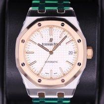 Audemars Piguet Royal Oak Selfwinding Gold/Steel 37mm Silver No numerals