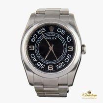 Rolex Oyster Perpetual 36 Stahl 36mm Schwarz Arabisch