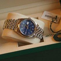 Rolex Datejust Staal 36mm Blauw Geen cijfers