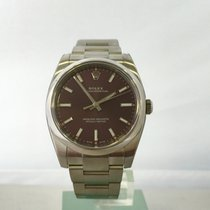 Rolex Oyster Perpetual 34 Steel 34mm Purple No numerals