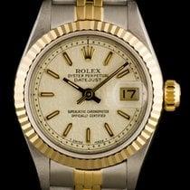 Rolex Steel & Gold O/P Cream Jubilee Baton Dial Datejust...