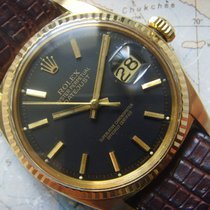 Rolex 1968 rare black dial 18K solid yellow gold Datejust 1601
