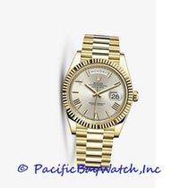 Rolex Oro amarillo Automático Plata Romanos 40mm nuevo Day-Date 40