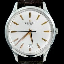 Zenith Captain Central Second pre-owned 40mm Champagne Date Crocodile skin