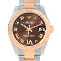 Rolex Datejust Midsize Steel Rose Gold Diamond Watch 178271...