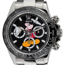 Rolex Daytona Steel Black Mickey Mouse Dial Black Ceramic...