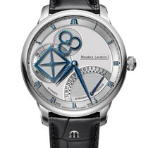 Maurice Lacroix Acciaio 43mm Automatico MP6058-SS001-110-1 Maurice Lacroix MASTERPIECE Acciaio Nero nuovo Italia, VICENZA