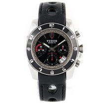 Tudor Grantour Chrono Steel 40mm Black No numerals